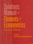 Cover image for 'Solutions Manual to Elements of Econometrics'