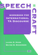Book cover for 'Speechcraft: Workbook for International TA Discourse'