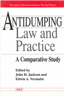 Book cover for 'Antidumping Law and Practice'