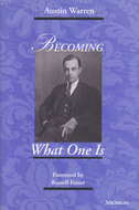 Book cover for 'Becoming What One Is'