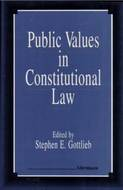 Cover image for 'Public Values in Constitutional Law'