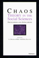 Book cover for 'Chaos Theory in the Social Sciences'