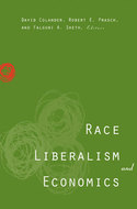 Book cover for 'Race, Liberalism, and Economics'