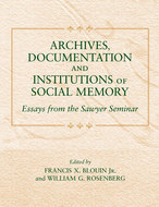Book cover for 'Archives, Documentation, and Institutions of Social Memory'