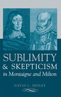Book cover for 'Sublimity and Skepticism in Montaigne and Milton'