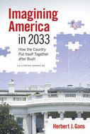 Book cover for 'Imagining America in 2033'