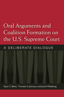 Book cover for 'Oral Arguments and Coalition Formation on the U.S. Supreme Court'