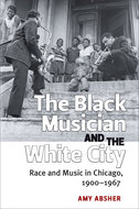 Book cover for 'The Black Musician and the White City'
