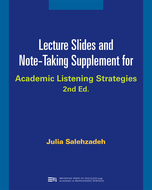 Product cover for 'Lecture Slides and Note-Taking Supplement for Academic Listening Strategies'