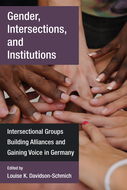 Book cover for 'Gender, Intersections, and Institutions'