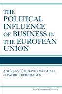 Book cover for 'The Political Influence of Business in the European Union'