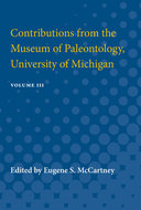 Cover image for 'Contributions from the Museum of Paleontology, University of Michigan'