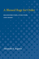 Cover image for 'A Blessed Rage for Order'