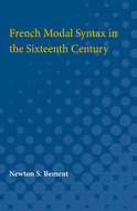 Cover image for 'French Modal Syntax in the Sixteenth Century'