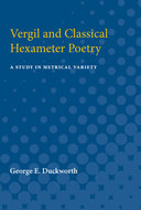 Cover image for 'Vergil and Classical Hexameter Poetry'