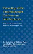 Book cover for 'Proceedings of the Third Midwestern Conference on Solid Mechanics'
