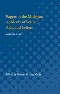 Book cover for 'Papers of the Michigan Academy of Science, Arts, and Letters'