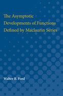 Book cover for 'The Asymptotic Developments of Functions Defined by Maclaurin Series'