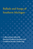 Book cover for 'Ballads and Songs of Southern Michigan'