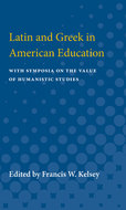 Cover image for 'Latin and Greek in American Education'