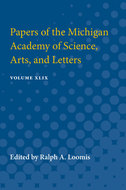 Cover image for 'Papers of the Michigan Academy of Science, Arts, and Letters'