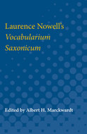 Cover image for 'Laurence Nowell's Vocabularium Saxonicum'