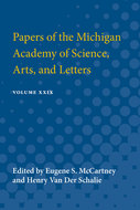 Cover image for 'Papers of the Michigan Academy of Science Arts and Letters'