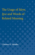 Book cover for 'The Usage of Idem, Ipse and Words of Related Meaning'