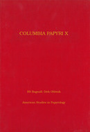 Book cover for 'Columbia Papyri X'