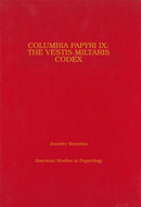Book cover for 'Columbia Papyri IX'