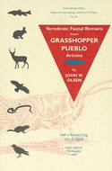Book cover for 'Vertebrate Faunal Remains from Grasshopper Pueblo, Arizona'