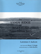 Book cover for 'The Sandy Ridge and Halstead Paleo-Indian Sites'