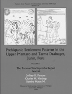 Book cover for 'Prehispanic Settlement Patterns in the Upper Mantaro and Tarma Drainages, Junín, Peru'