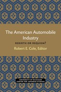 Book cover for 'The American Automobile Industry'