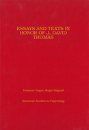 Book cover for 'Essays and Texts in Honor of J. David Thomas'