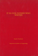 Cover image for 'It Is Our Father Who Writes'