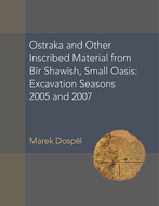 Product cover for 'Ostraka and Other Inscribed Material from Bir Shawish, Small Oasis: Excavation Seasons 2005 and 2007'