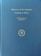 Book cover for 'Memoirs of the American Academy in Rome, Vol. 63/64'