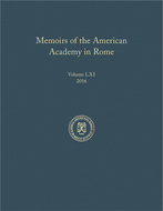 Cover image for 'Memoirs of the American Academy in Rome, Vol. 61 (2016)'