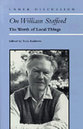 Cover image for 'On William Stafford'