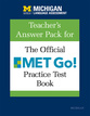 Cover image for 'Teacher's Answer Pack for The Official MET Go! Practice Test Book'