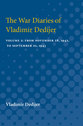 Cover image for 'The War Diaries of Vladimir Dedijer'