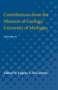 Cover image for 'Contributions from the Museum of Geology, University of Michigan'