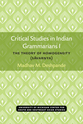 Cover image for 'Critical Studies in Indian Grammarians I'