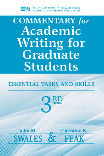 Academic writing for graduate students 3rd edition cover image for commentary for academic writing for graduate students 3rd ed fandeluxe Gallery