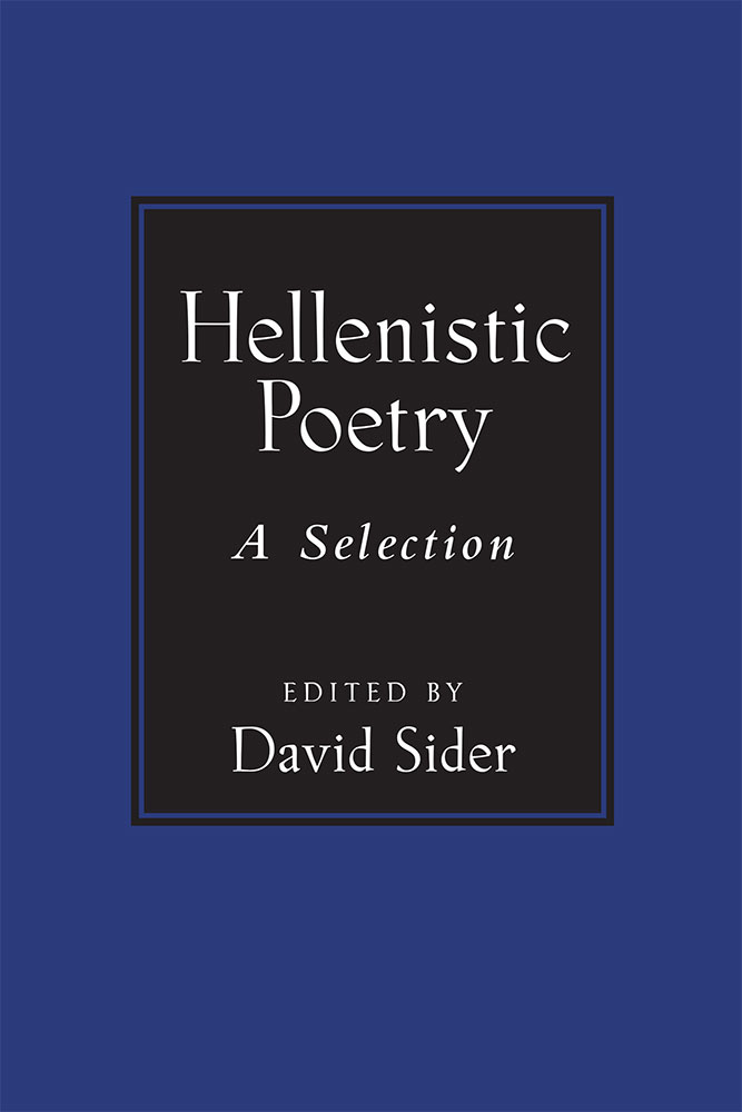 Book Cover For Hellenistic Poetry