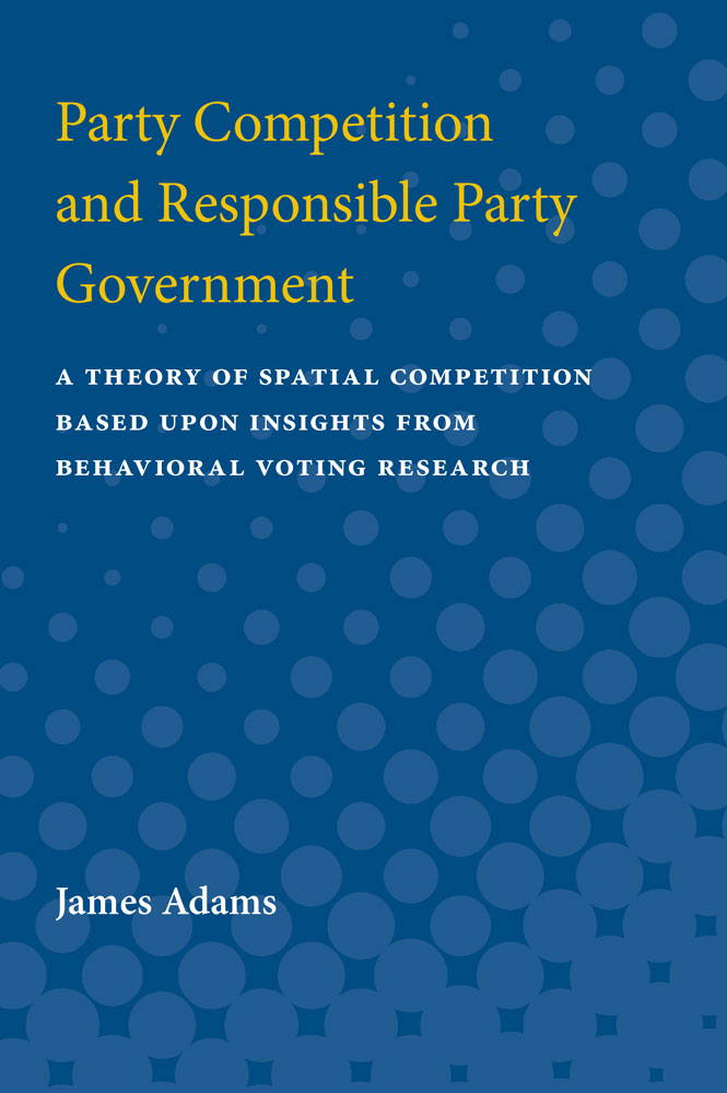 Book Cover For Party Competition And Responsible Government