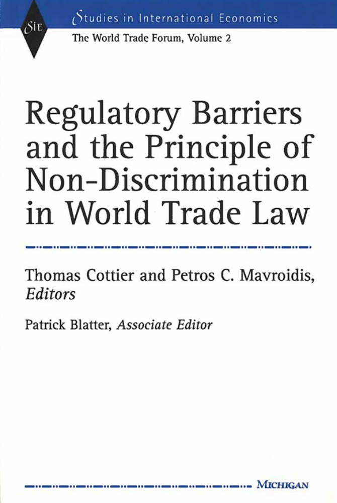 Regulatory Barriers and the Principle of Non-discrimination