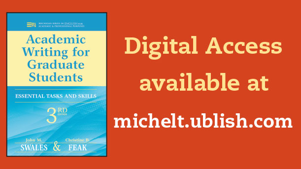 Digital Access to Academic Writing for Graduate Students Now Available