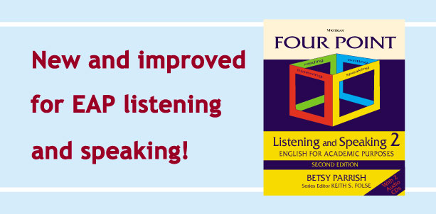 New and improved for EAP listening and speaking